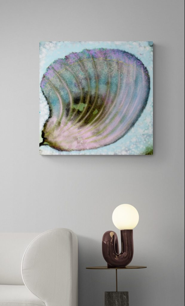 Second Image of 'Butterfly Petal'. - Limited edition of 300. Floral wall art printed on Dibond, signed and numbered.