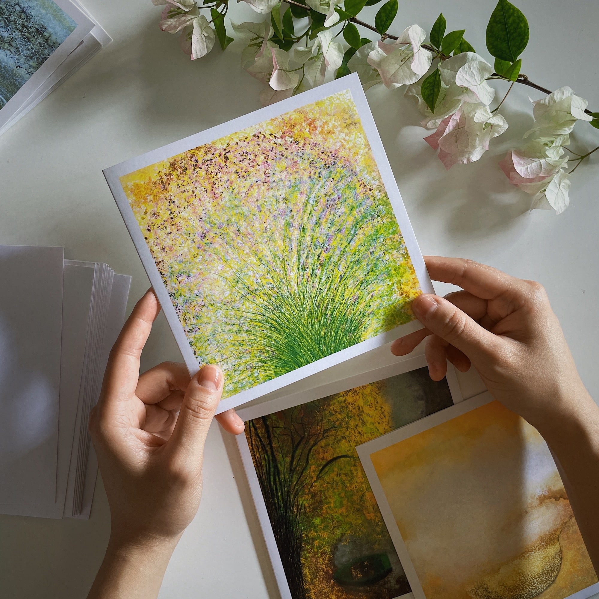 Image showing that we do wholesale postcards to any retailers that want to sell our artistic postcards.
