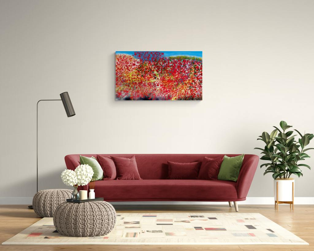 Pistachio is a floral wall art print by Anne Turlais and can be ordered as an art print in 60cmx60cm or 1mx1m limited edition on Dibond. It is a beautiful nature art print inspired by the terebinth pistachio.