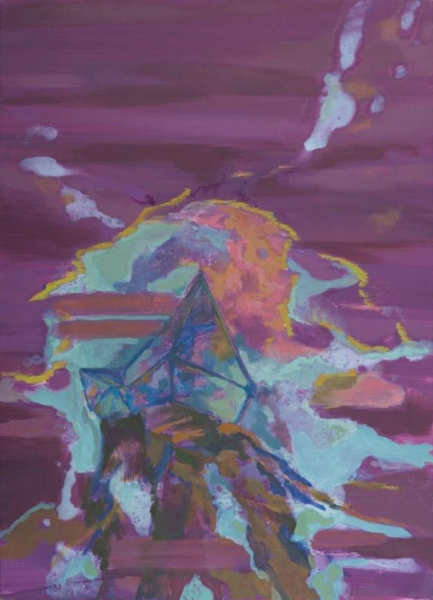 Anja Billing: Höher gelegen (2) · 2008 · Öl auf Leinwand · 120 x 85 cm