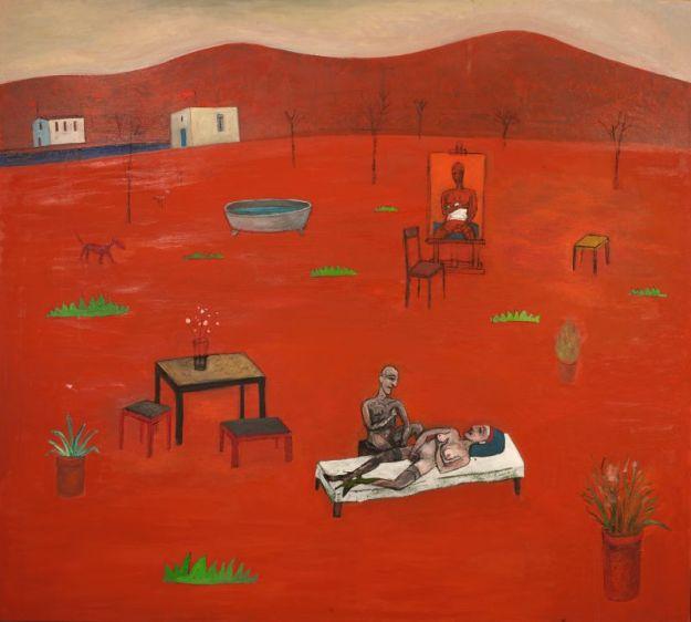 Großes Rotes Bild, Öl auf Leinwand, 160 x 180cm, 2014