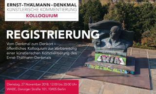 Registrierung Kolloquium Ernst-Thälmann-Denkmal