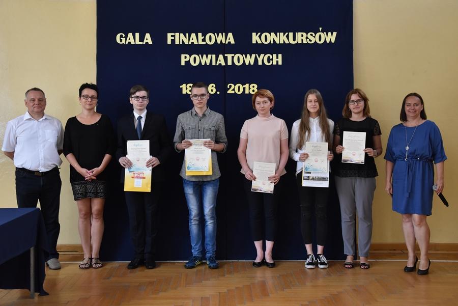 Gala rozdania nagród - konkursy powiatowe.