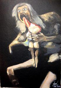 Goya saturn dévorant ses enfants