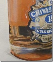 bouteille de whisky détail