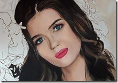 portrait femme fleur