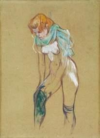 Toulouse Lautrec, Femme qui tire son bas, 1894