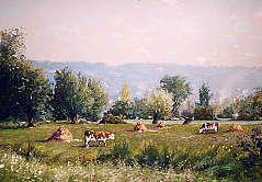 Philippe GIRARDOT - Vaches au pré