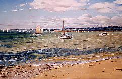 Philippe GIRARDOT - Au mouillage 60 x 38