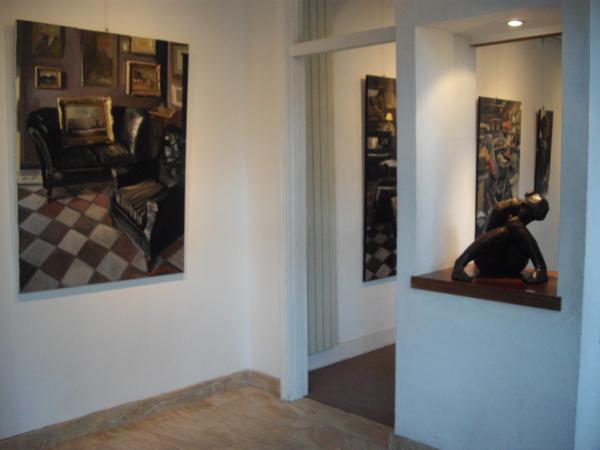 Christoff DEBUSSCHERE - Les polders et Elodie à la Galerie en Ré