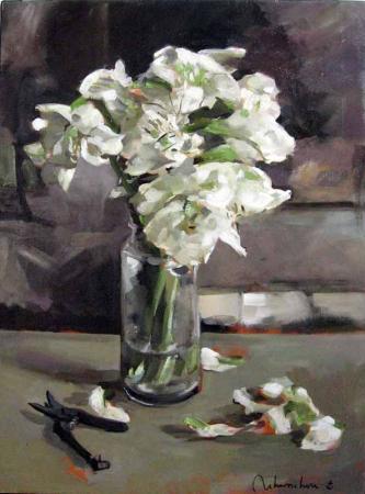 Christoff DEBUSSCHERE - Les lys blancs (disponible a la galerie été 2010)