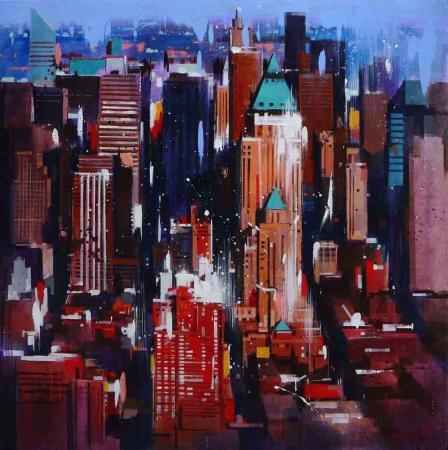 Yong-Man KWON - New-York by night  80x80