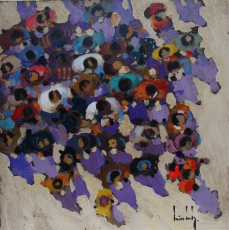 Olivier SUIRE-VERLEY - Badauds 40x40 2010