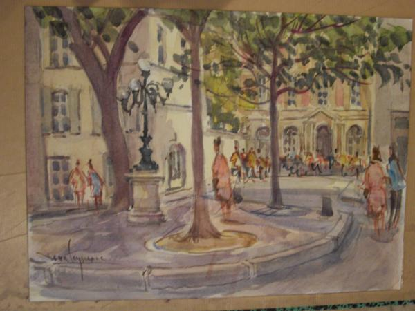 Jean  LEYSSENNE - La Place Furstenberg