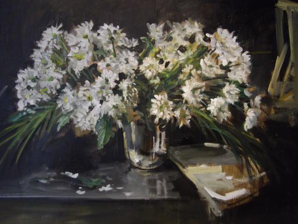 Christoff DEBUSSCHERE - 2012 Le grand bouquet blanc 116x73