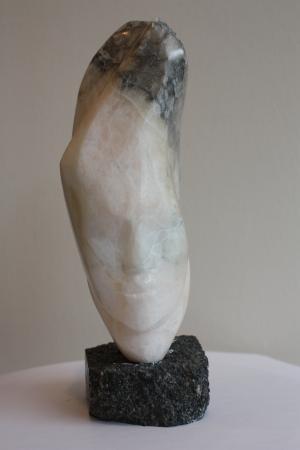 Pont-L'Abbé 2012 - Sylvie Koechlin visge sculpture sur pierre