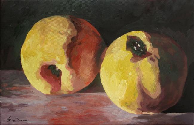 Jacques GODIN - 13 nature morte aux citrons 50X65