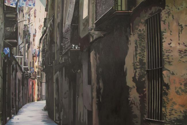 Jacques GODIN - 13 Ruelle de Barcelone Barrio chino  97x146