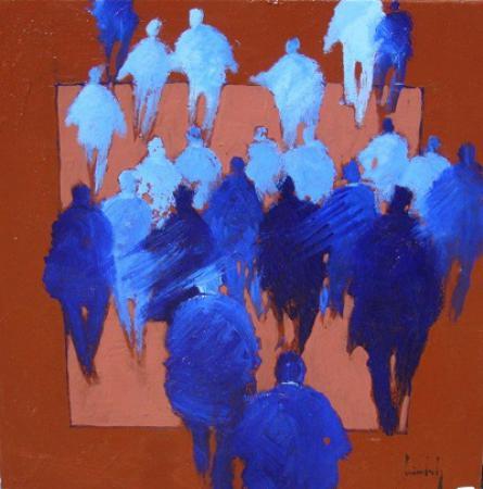 Olivier SUIRE-VERLEY - 14 Les amis 50x50