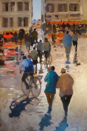 Olivier SUIRE-VERLEY - 14 Rain in Paris 120x80