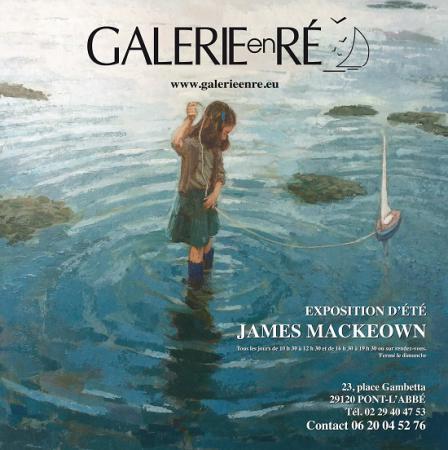 james MacKeown - affiche la fille au bâteau