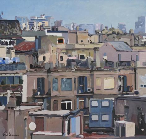 Jacques GODIN - 2016 Les toits de Barcelone