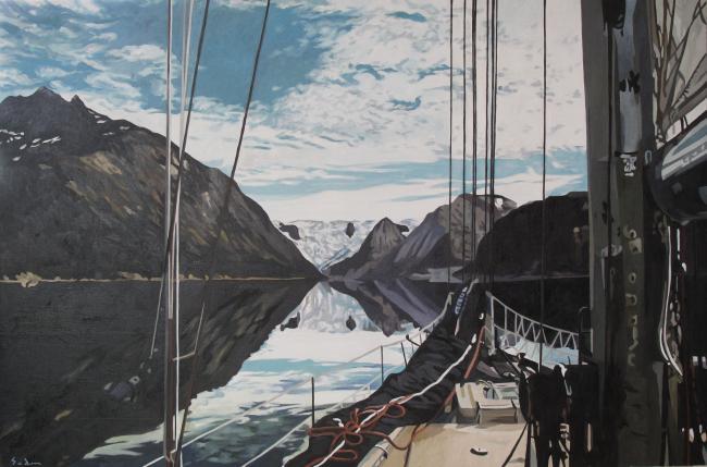 Jacques GODIN - 2020 Navigare Necesse est, huile sur toile, 97 x 146 cm