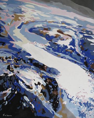 Jacques GODIN - 2020 Le chant du monde, huile sur panneau, 50 x 40 cm