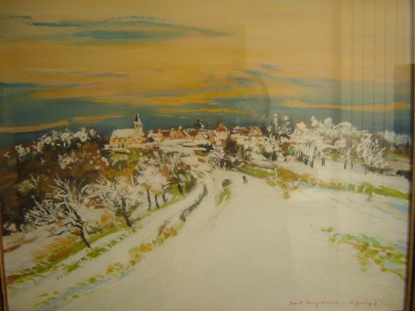 Jacques  COQUILLAY - Saint Rémy sous la neige