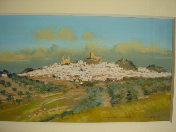 Jacques  COQUILLAY - Village andalous blanc- prix sur demande