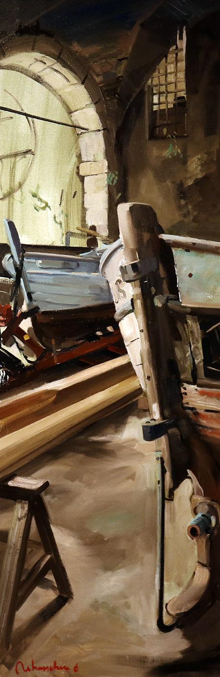 Christoff DEBUSSCHERE - 46 - Le bateau bleu chez Pasquet - 150X50 cm