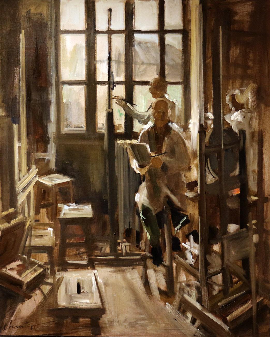 Christoff DEBUSSCHERE - 80 - Les peintres - 40F (100 x 81 cm)