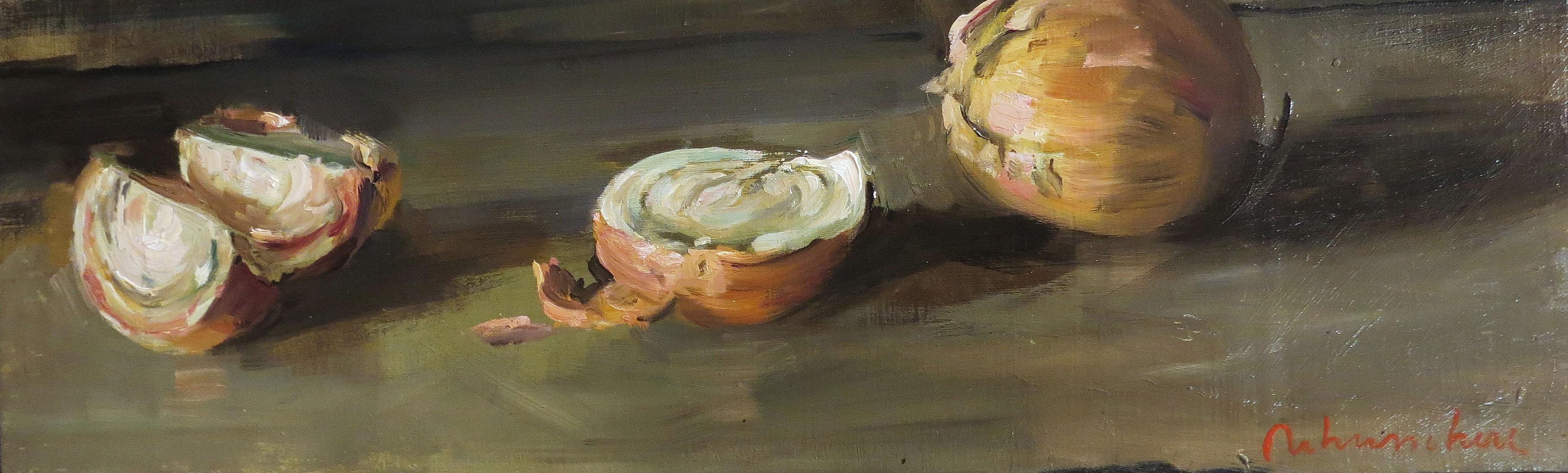 Christoff DEBUSSCHERE - 17- Les oignons coupés -20X60 cm