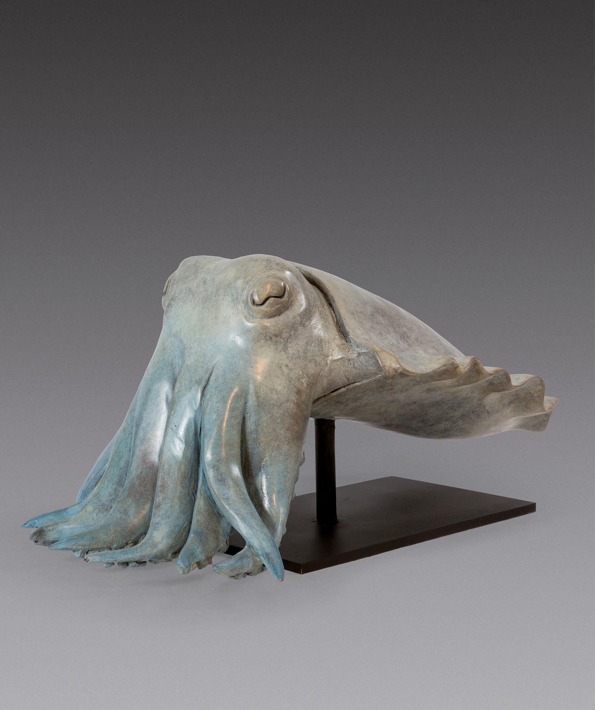 Jean Lemonnier Seiche, bronze, H 24, 52, 27 cm