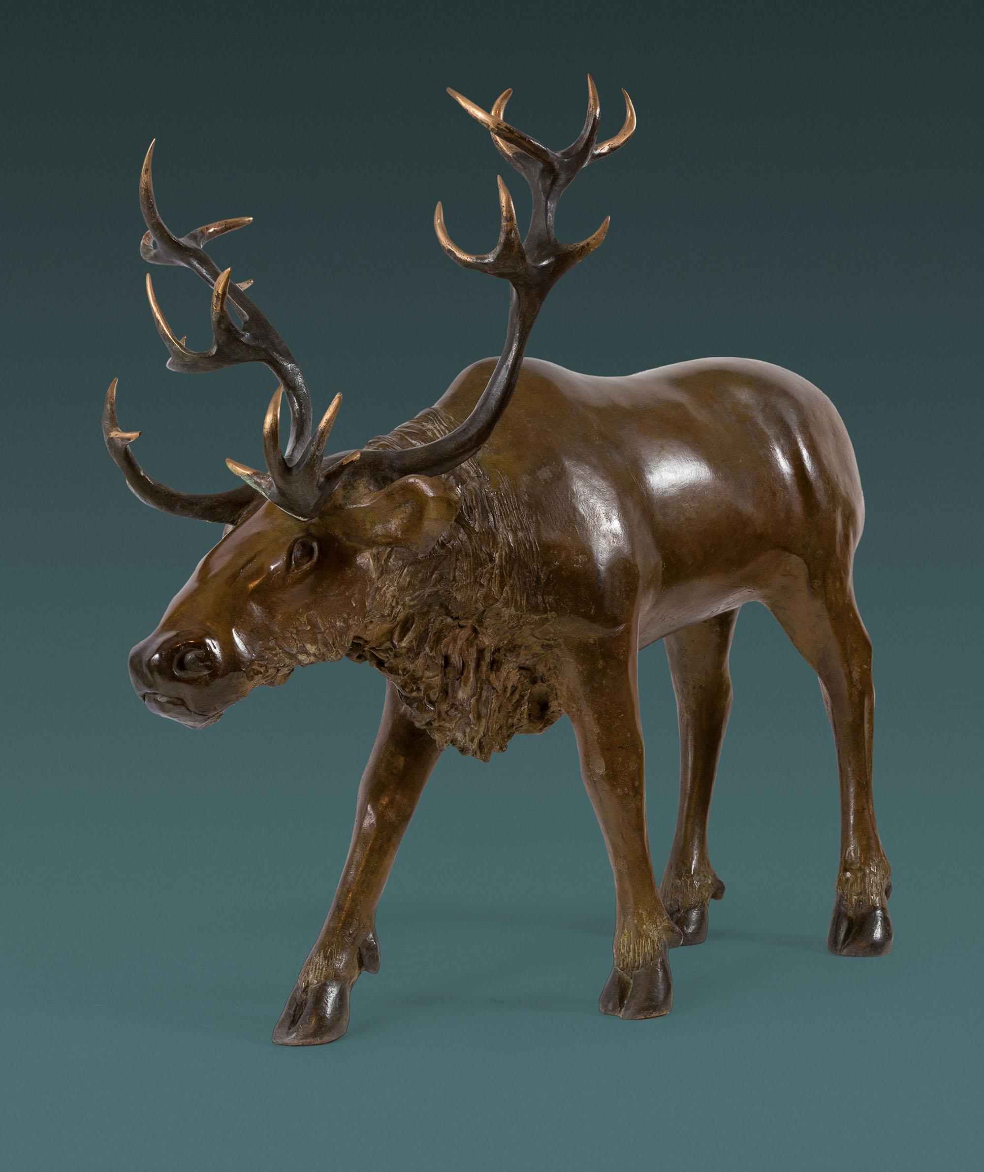Jean Lemonnier - Renne, bronze, H 70, 80, 38 cm