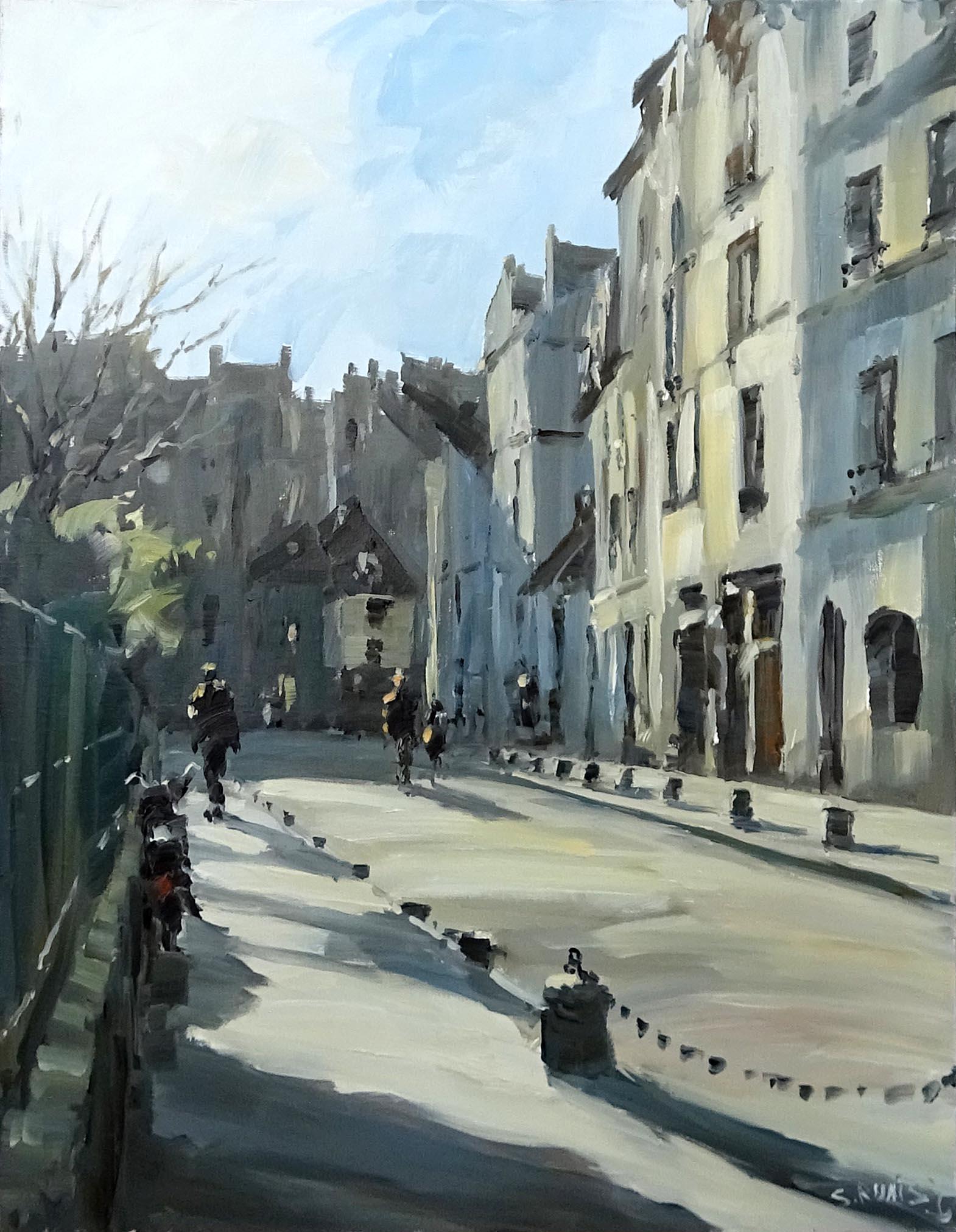 Stéphane RUAIS - n°12 Rue St Julien le Pauvre 12P 61X46cm - Huile sur toile
