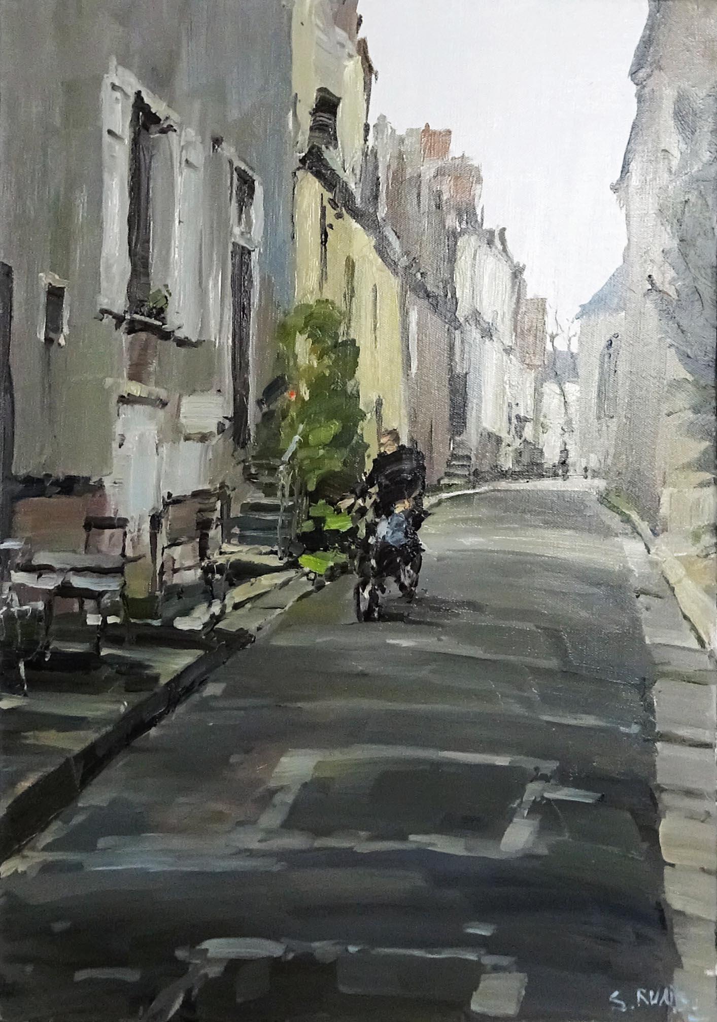 Stéphane RUAIS - n°10 Chartres 10F 55X46cm - Huile sur toile