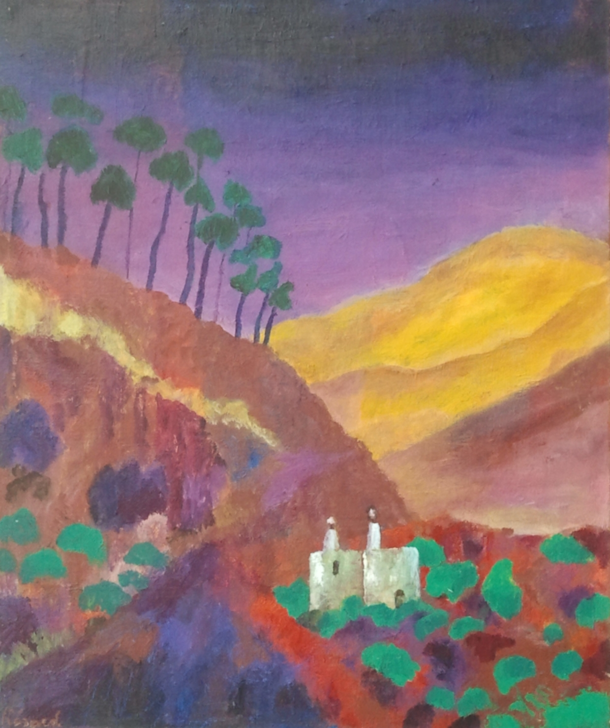 Abbé Maurice Herard Paysage Isthme rouge Aden
