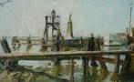 Entrée du port de Volendam Pays Bas 1967