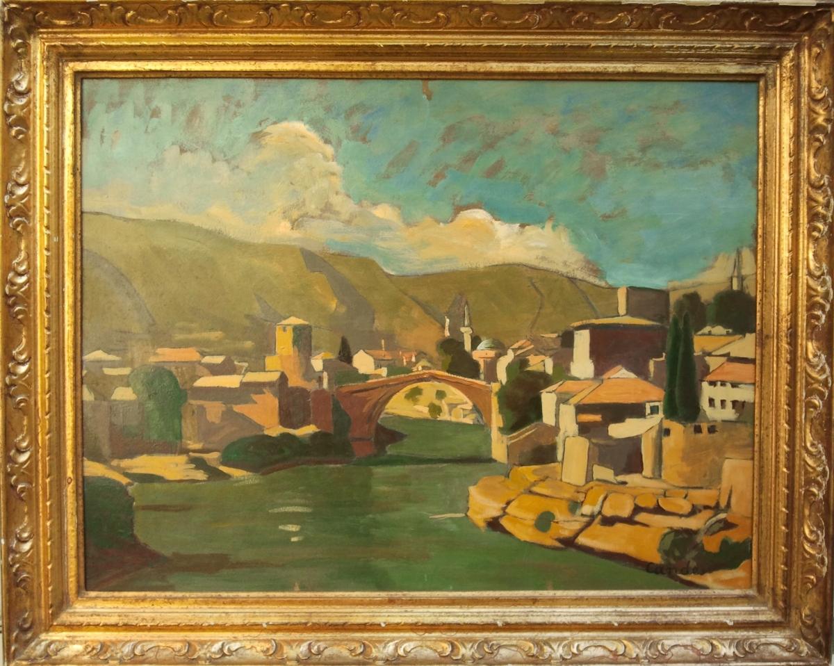 candes roger la ville de Mostar et le pont Stari Most