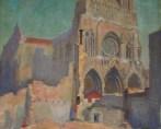 Cathédrale de Reims après les bombardements de la Première Guerre Mondiale