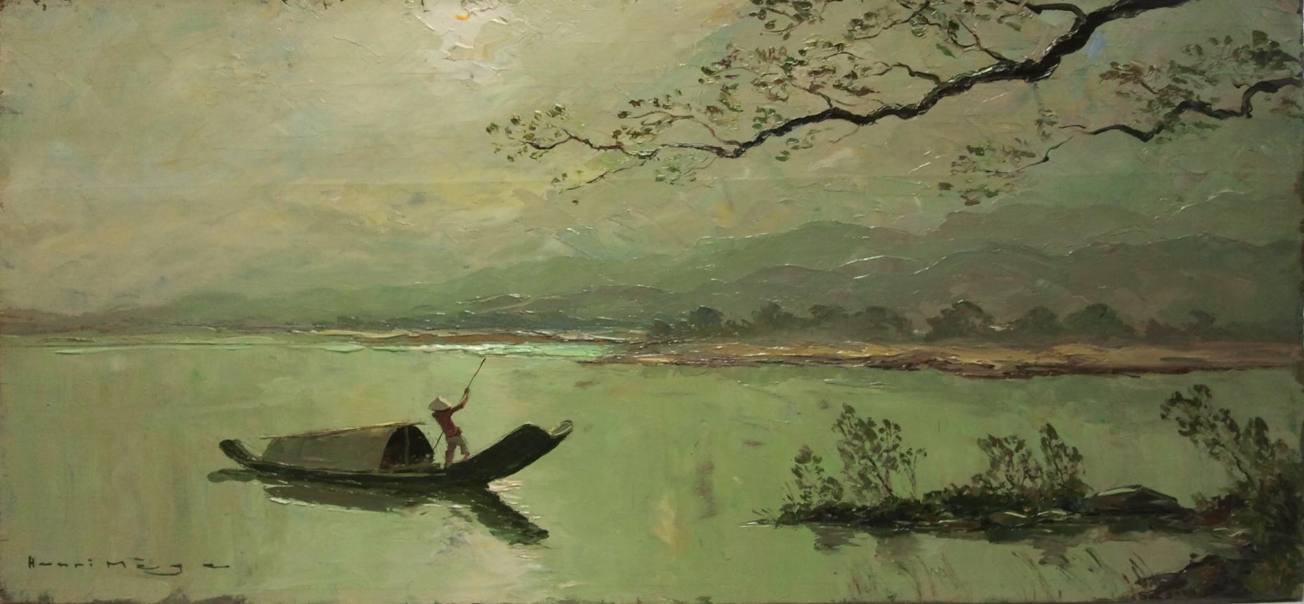 Matin dans la lagune de Cầu Hai