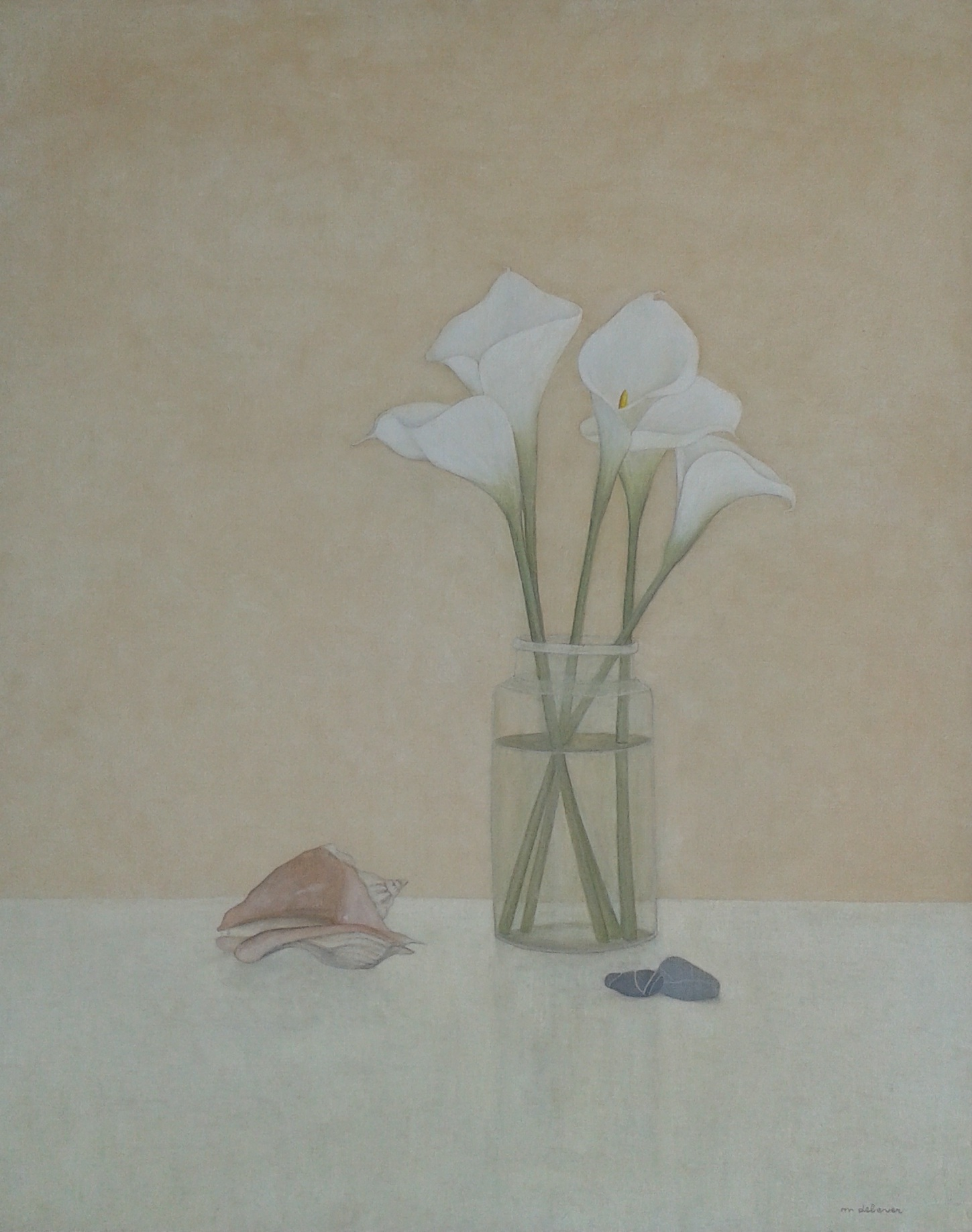 Bouquet d'arums néo Morandi