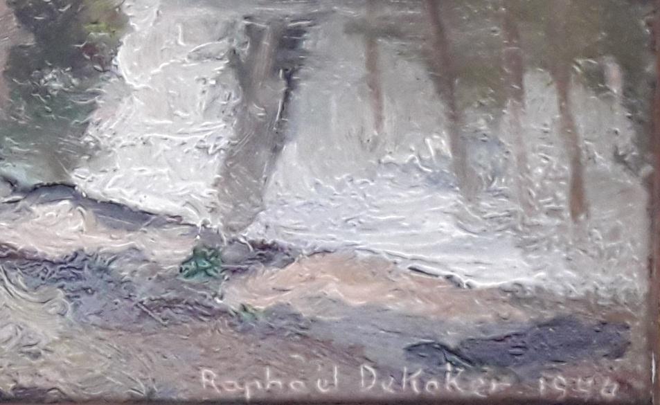 raphael dekoker le Neerpedebeek à pede saint anne belgique signature