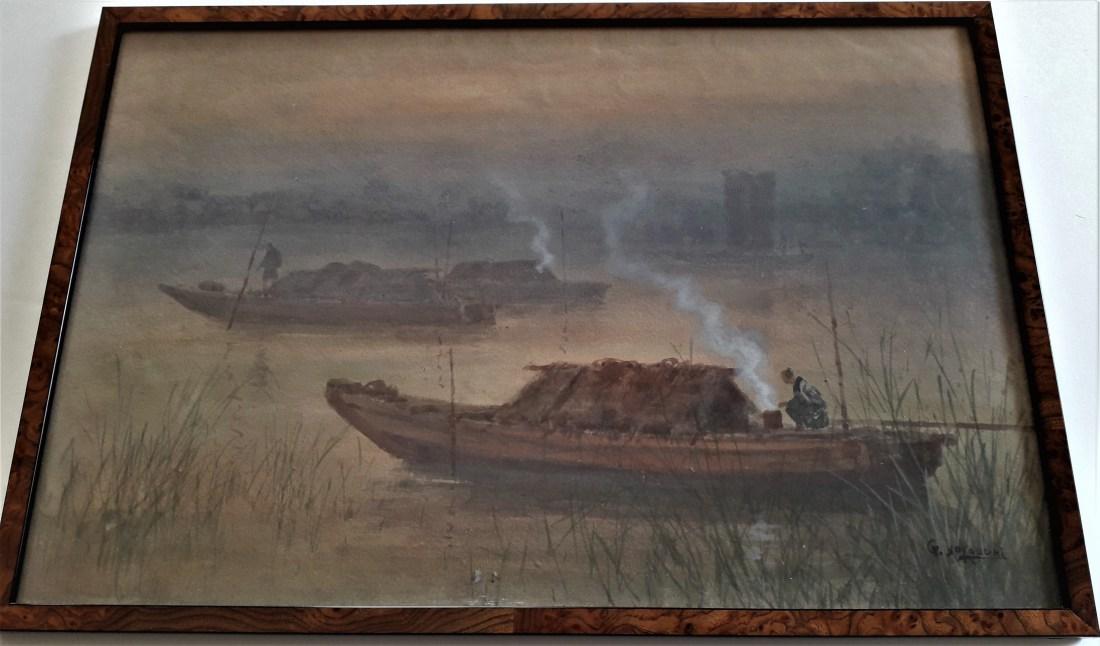 ginnosuke-yokuchi-barques-animees-sur-la-riviere-japon