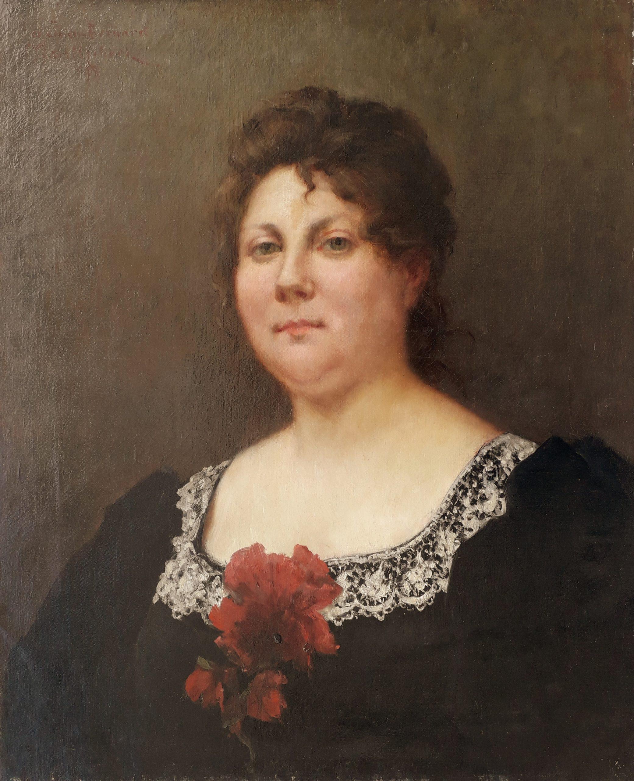Trouillebert-paul-désiré-Portrait-de-femme-au-col-de-dentelles-1897