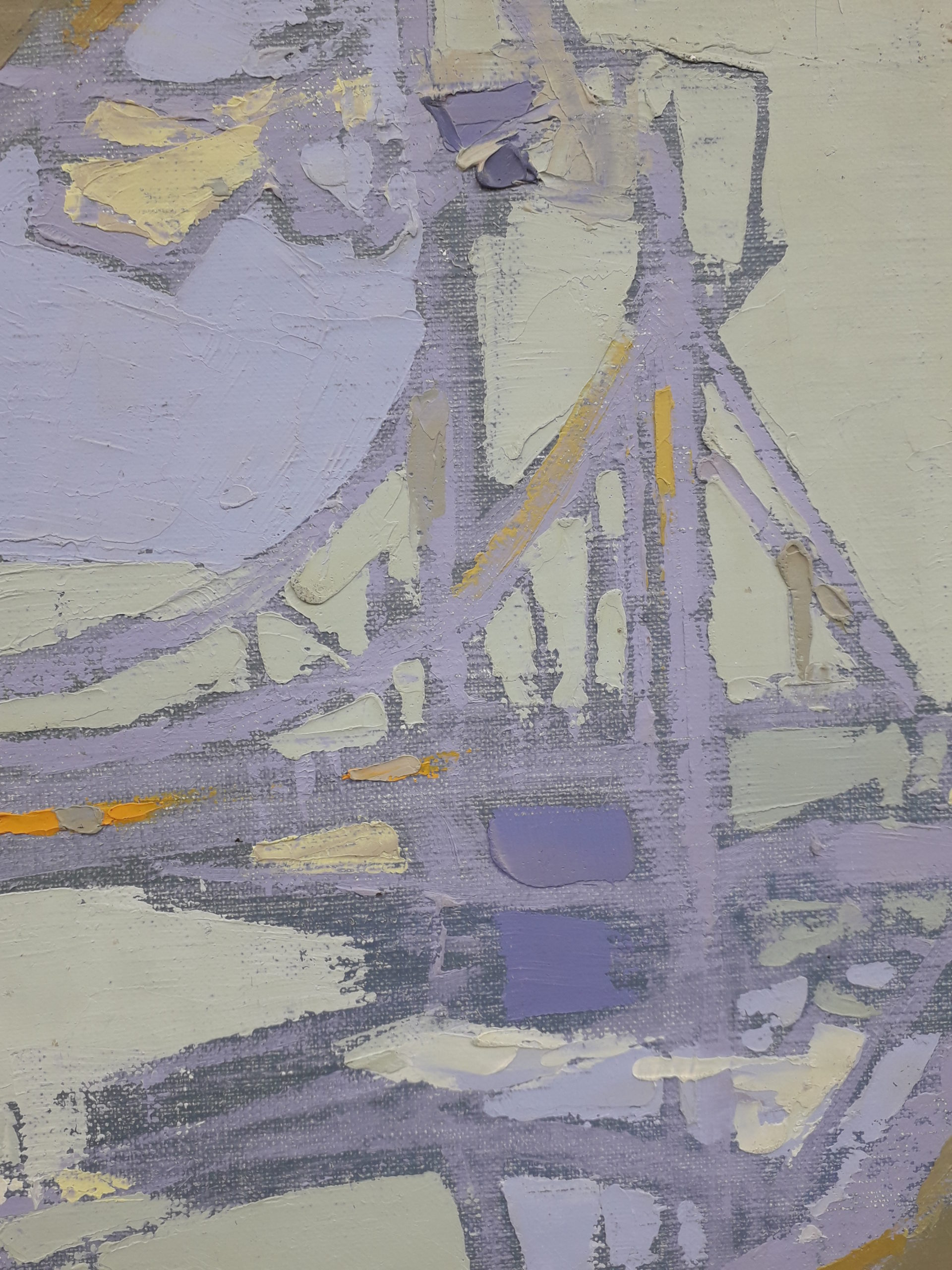 Kluge michel paysage marin au voilier detail 1