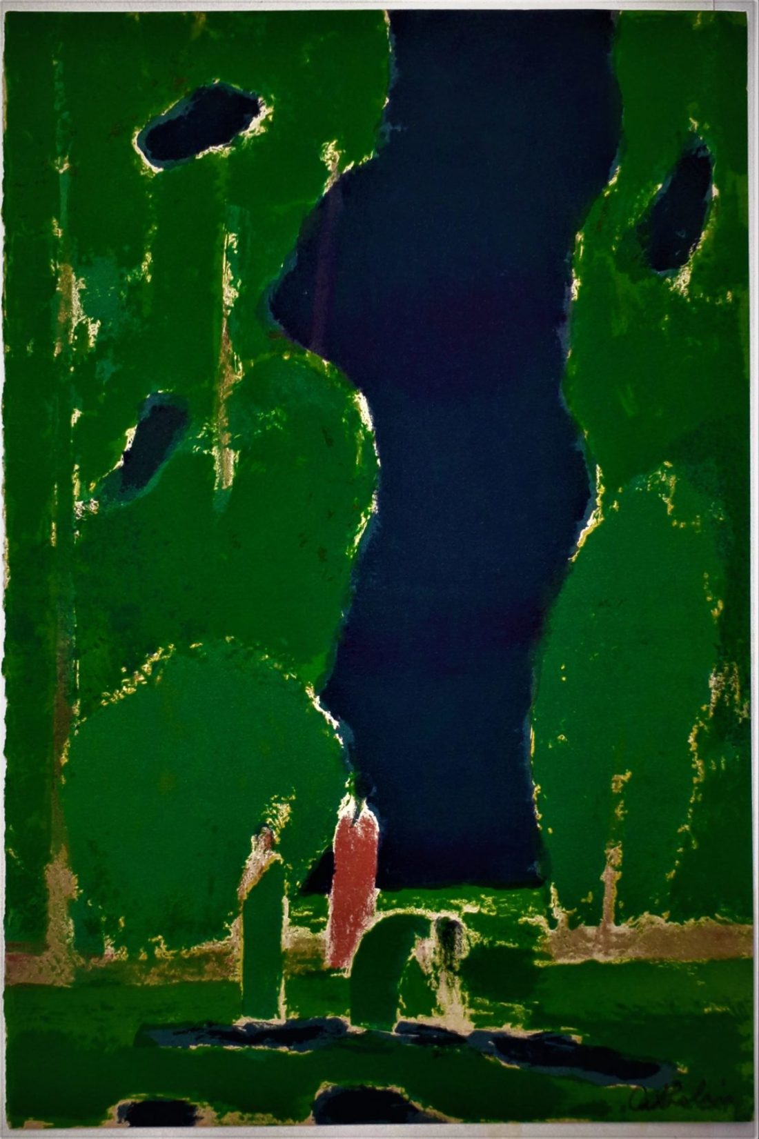 cathelin-bernard-clairiere-a-ceylan-1972-lithographie