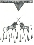Licornes. Graphite. 25X35cm