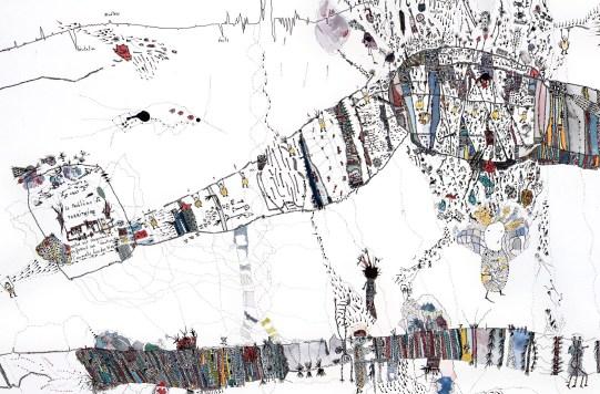 Almarie Stromb d'Italie. Aquarelle et encre de chine. 57X76 cm (détail)